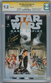 Star Wars Dark Empire #4 CGC 9.8 Signature Series Signed Carrie Fisher & Bulloch Comic Book